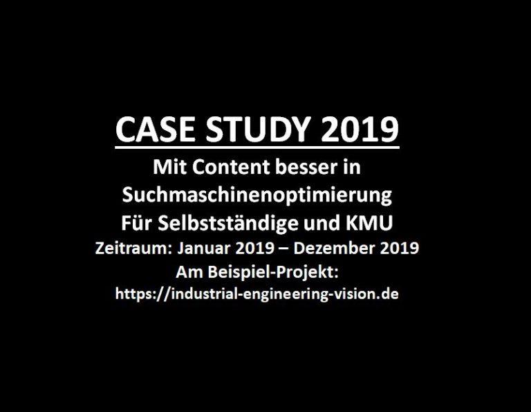 CASE STUDY 2019 Beispiel-Projekt IEV