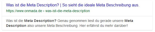 Meta Description onmada