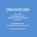 CASE STUDY 2019 Januar Planung und Umsetzung